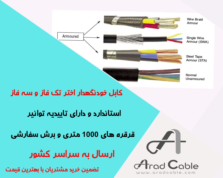 کابل برق آرموردار